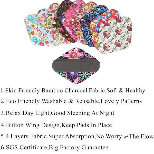 Reusable Sanitary Pads Starter Kit 13 pcs